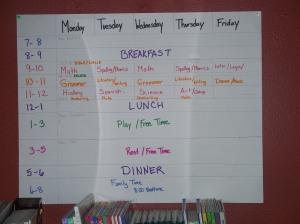 Karen's Schedule